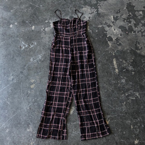 All in Favor Pants - All in Favor Plaid Jumpsuit